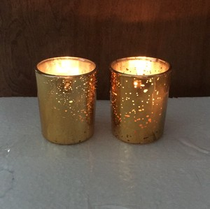 45 Gold Mercury Flecked Votives