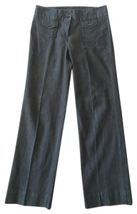 Bill Blass Dark Rinse Trouser Trouser/Wide Leg Jeans-Dark Rinse