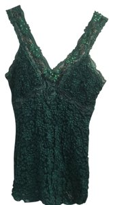 Ann Ferriday Lace Top Blue Green