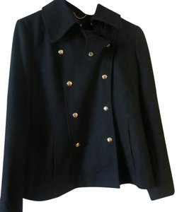 Guess Wool Military Gold Hardware Pea Coat