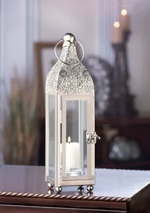 16 Ornate Polished Metal Candle Lantern Centerpieces (brand New)
