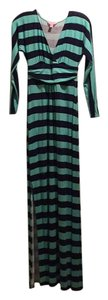 Navy and seafoam green Maxi Dress by Lilly Pulitzer