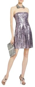 BCBGMAXAZRIA Strapless Bcbg Cocktail Bcbg Prom Bcbg Formal Bcbg Lilac Sequin Dress