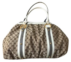 Gucci X-large Tote Satchel in Beige