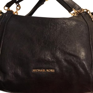 Michael Kors Stanthorpe Leather Satchel in Black
