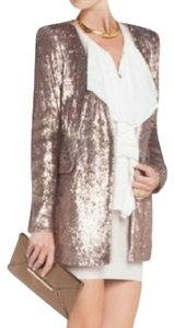 BCBGMAXAZRIA Bcbg Cocktail Attire Sequin Jacket Bcbg Runway Bcbg Formal Rose Gold Blazer