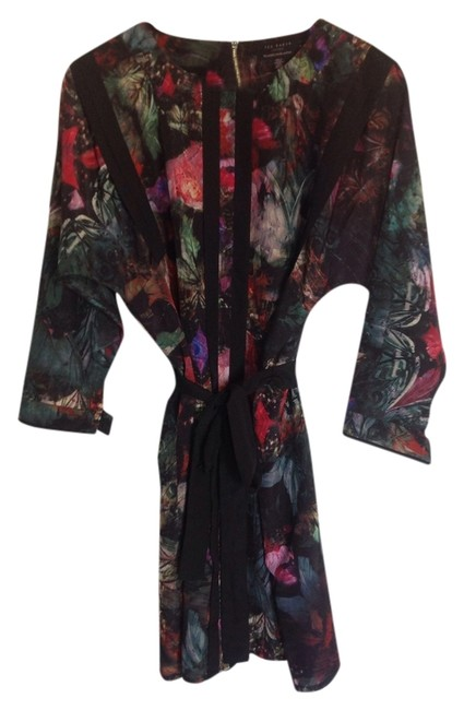 Item - Multi Color Above Knee Night Out Dress Size 12 (L)