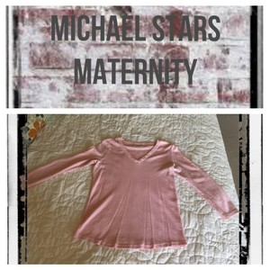 Michael Stars v neck 3/4 sleeve top