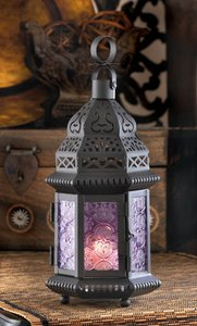 16-purple Moroccan Style Candle Lantern Wedding Table Decor Centerpiece (brand New)