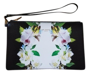 Ted Baker Saffiano Leather Floral Black/Floral Clutch