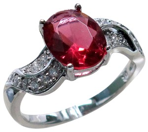 9.2.5 Unique ruby and white topaz ring valentine special