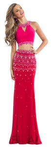 Rachel Allan Prom 2 Piece Beading Cut Outs Dress