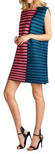 Nabisplace short dress Blue/Pink Summer Cute Striped on Tradesy