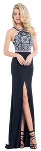 Rachel Allan Prom Fitted Beaded Open Dress