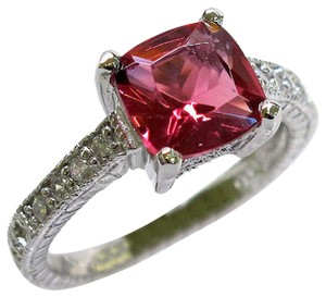 9.2.5 Unique ruby and white topaz royal cocktail ring valentine special