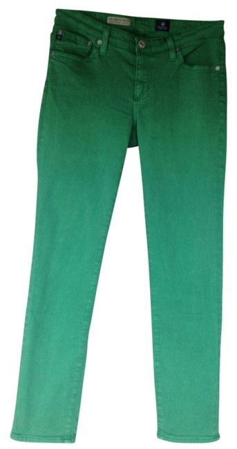 Item - Green Medium Wash Straight Leg Jeans Size 28 (4, S)