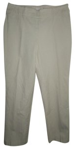 Chico's Side Zipper Size 1 Stretch Trouser Pants Cream