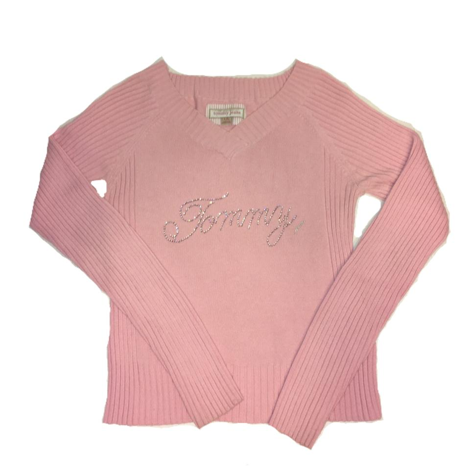 tommy hilfiger pink pull over sweater tunic size 12 l tradesy. Black Bedroom Furniture Sets. Home Design Ideas