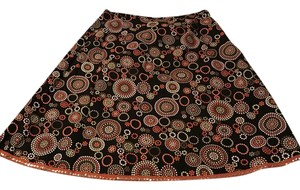 Talbots Skirt black, orange, gold