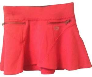 A/X Armani Exchange Zipper Emblem Sweatshirt Material Mini Skirt Bright Pink