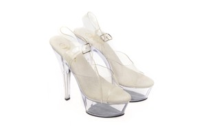 Pleaser Clear Pumps