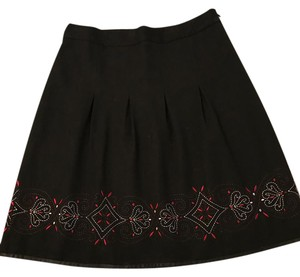 Ann Taylor LOFT Skirt black and red