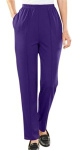 Anthony Richards Relaxed Pants Purple and Garnet