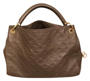 Louis Vuitton Ombre Brown Leather Satchel in Brown/ombre