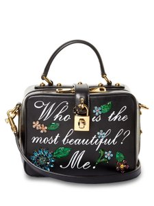 Dolce&Gabbana Leather. Crystals Hand Painted Cross Body Bag