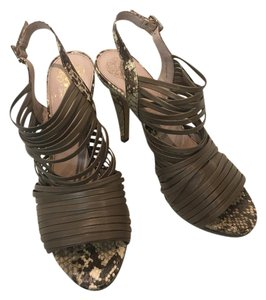 Vince Camuto Snakeskin Strappy Grey Sandals
