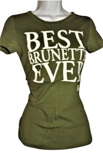 Abercrombie & Fitch Tee Vintage Vtg T Shirt olive green - white