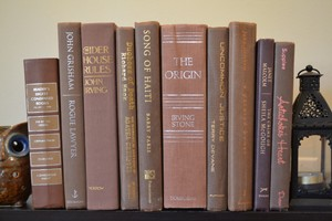 Vintage Style Books - Brown Beauty - B500 - Set Of 10