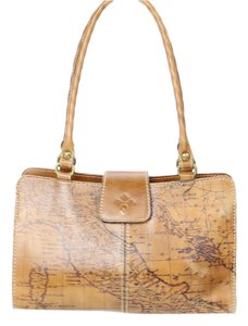 Patricia Nash Designs Vintage Map Protective Feet Satchel in Brown