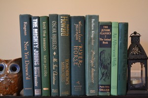 Vintage Style Books - Nature Green - Q675 - Set Of 10