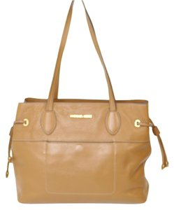 Michael Kors Acorn Gold Hardware Protective Feet Tote in Brown