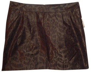 Gap Animal Print Mini Polyester Leopard Mini Skirt Black