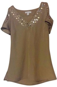 New York & Company & Co V-neck Top Beige