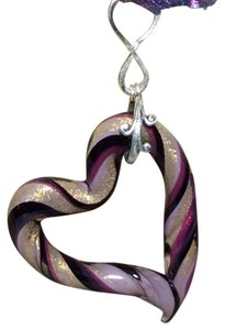 Murano New Murano Made it Italy large purple glass heart
