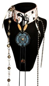 Other AgaTha ResuRRecTioN, Leather, Brass, Beaded, Sqeuin Choker, One Size
