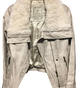 Guess jacket gray Leather Jacket