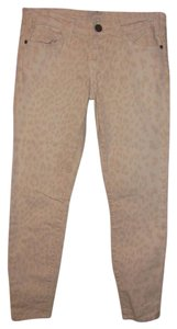 Current/Elliott Animal Print Leopard Skinny Skinny Jeans-Light Wash