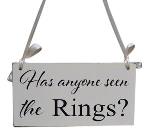 Ring Bearer Sign - Has Anyone Seen The Rings?