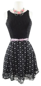 Disney short dress Black Minnie Mouse Valentines Sequin Minnie Rocks on Tradesy