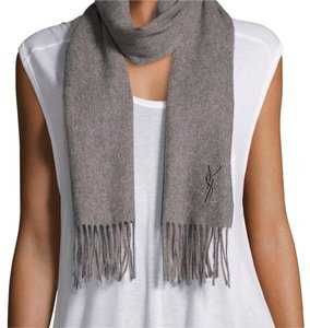 Saint Laurent saint laurent gray scarf