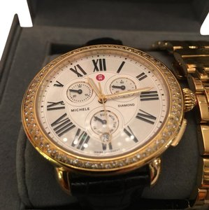 Michele Michele Watch with Gold Band and Alligator Band