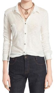 Free People Button Down Shirt Natural
