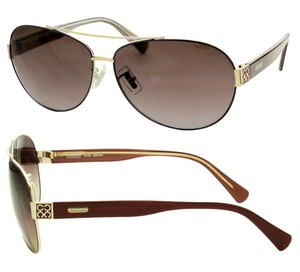 Coach New-With-Tags Coach Aviator Sunglasses S1021-223 Brown / 1026