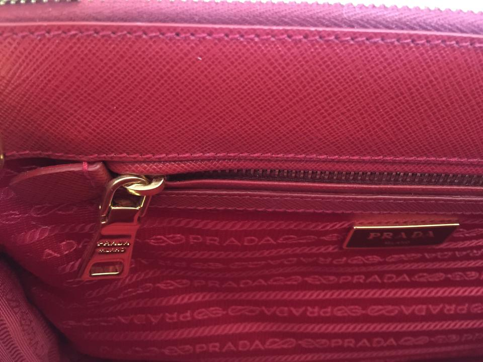 b5300c75af73 Prada Saffiano Leather Lux Small Bn1801 Tote in FUOCO Red Image 11.  123456789101112