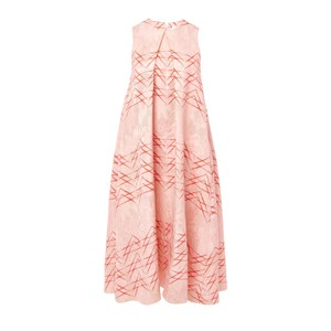 Peach, pink Maxi Dress by Kaelen Luxury Made In Usa Hi Lo Tent Spring