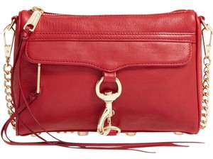 Rebecca Minkoff Hr26ifcx01 Mac Red Leather Mini Cross Body Bag
